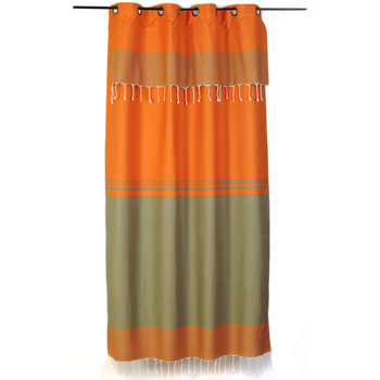 Maison & Déco Rideaux, stores Fouta Futée TANGER 250 à 280cm rideau ajustable hauteur Orange