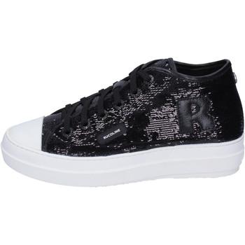 Chaussures Femme Baskets montantes Rucoline Sneakers Paillettes Noir