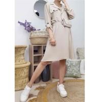 Vêtements Femme Robes courtes Fashion brands CD2293-BEIGE Beige
