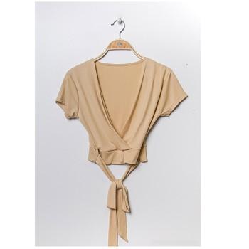 Vêtements Femme Tops / Blouses Fashion brands FR029T-BEIGE Beige