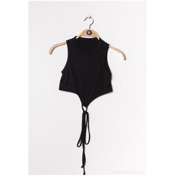 Vêtements Femme Tops / Blouses Fashion brands FR070-BLACK Noir