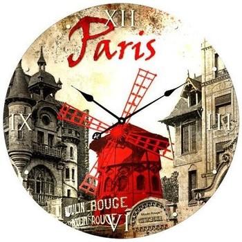 Maison & Déco Horloges Paris Pendule en verre Multicolore