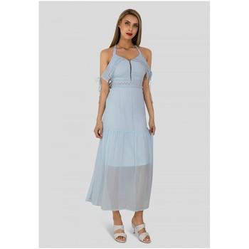 Vêtements Femme Robes longues Kebello Robe longue Taille : F Bleu M Bleu
