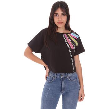 Vêtements Femme T-shirts manches courtes Ea7 Emporio Armani 3KTT40 TJ39Z Noir