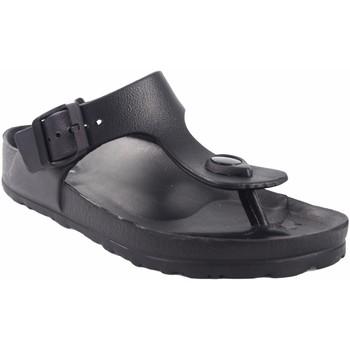 Chaussures Femme Tongs Kelara Dame de plage  K12018 noir Noir