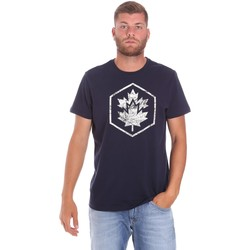 Vêtements Homme T-shirts manches courtes Lumberjack CM60343 023EU Bleu