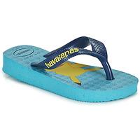Chaussures Garçon Tongs Havaianas KIDS TOP POKEMON Bleu