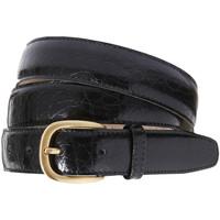 Accessoires textile Ceintures Honcelac Ceinture cuir réglable aspect croco noir