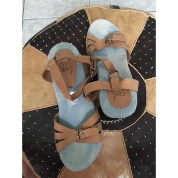 Chaussures Femme Sandales et Nu-pieds Coolway Compensés Marron