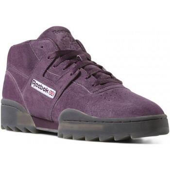 Chaussures Homme Baskets montantes Reebok Sport Workout Clean Mid Ripple Violet