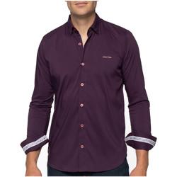 Vêtements Homme Chemises manches longues Shilton Chemise city classique manches longues Violet