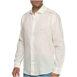 Vêtements Homme Chemises manches longues Shilton Chemise en lin manches longues Blanc