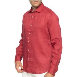 Vêtements Homme Chemises manches longues Shilton Chemise en lin manches longues Rouge