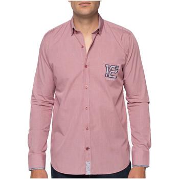 Vêtements Homme Chemises manches longues Shilton Chemise rugby beach flower Rouge