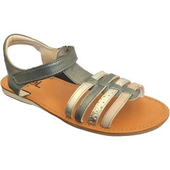 Chaussures Fille Sandales et Nu-pieds Noel Sydni Gris métal
