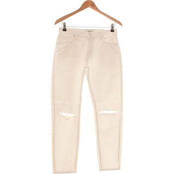 Vêtements Femme Jeans slim Forever 21 Jean Slim Femme  36 - T1 - S Blanc