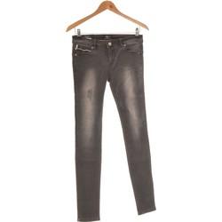 Vêtements Femme Jeans droit Gaudi Jean Droit Femme  36 - T1 - S Gris