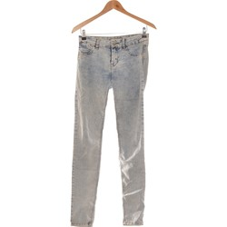 Vêtements Femme Jeans droit Pull And Bear Pantalon Droit Femme  36 - T1 - S Bleu