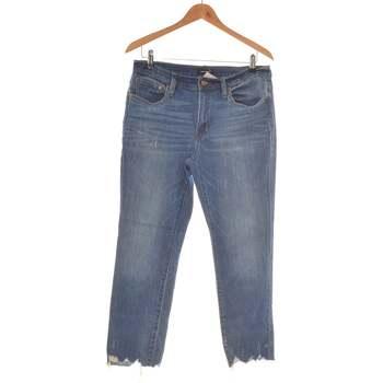 Vêtements Femme Jeans droit J Crew Jean Droit Femme  38 - T2 - M Bleu