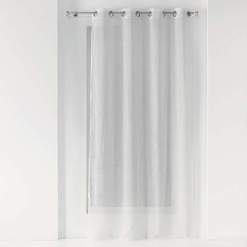 Maison & Déco Rideaux, stores 1001Kdo Pour La Maison Rideau Voile effet lin 140x240cm Zazy Blanc