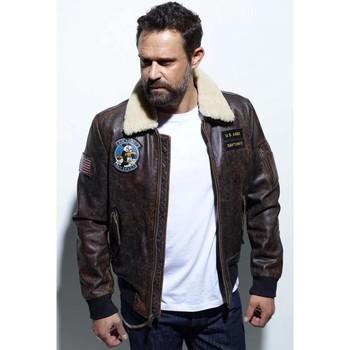 Vêtements Homme Manteaux Daytona JEFFERSON COW ASPHALT BRANDY Marron