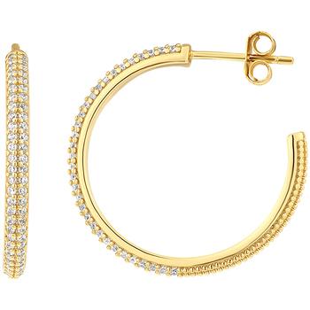 Montres & Bijoux Femme Boucles d'oreilles Impala Créoles  en Plaqué Or et Oxyde Jaune