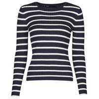 Vêtements Femme Pulls Only ONLNATALIA Marine / Blanc