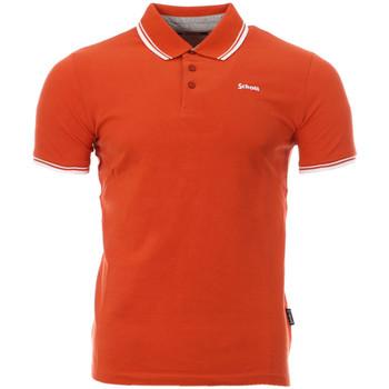 Vêtements Homme Polos manches courtes Schott PSBRYAN21 Orange