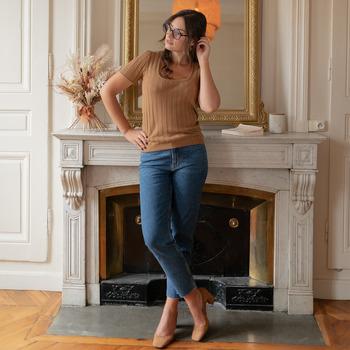Vêtements Femme Tops / Blouses Céleste ERABLE Camel