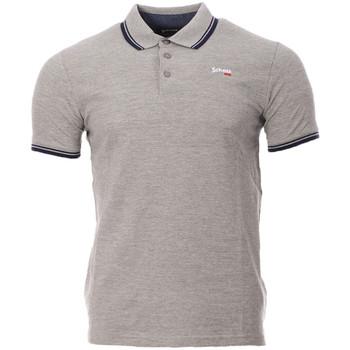 Vêtements Homme Polos manches courtes Schott PSBRYAN21 Gris