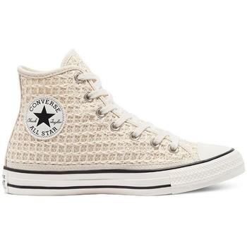 Chaussures Femme Baskets montantes Converse CTAS ALL STAR HI Beige