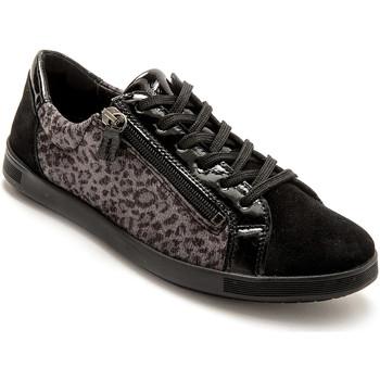 Chaussures Femme Baskets basses Pediconfort Baskets zippées cuir semelle amovible noirimprim