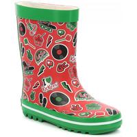 Chaussures Enfant Bottes de pluie Kickers Kickrain ROUGE