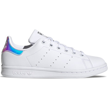 Chaussures Fille Baskets basses adidas Originals Stan Smith J Blanc
