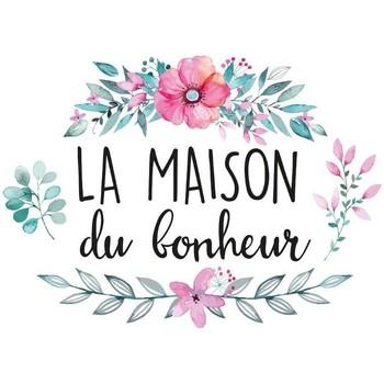 Maison & Déco Stickers Zen Et Ethnique Autocollant Mural Maison du Bonheur Rose