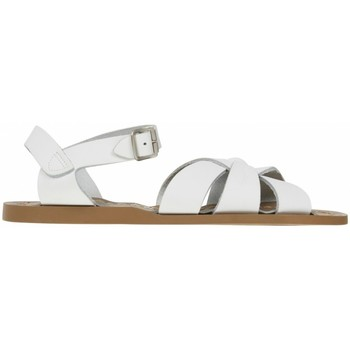 Chaussures Fille Sandales et Nu-pieds Salt Water Sandales ado en cuir uni Blanc