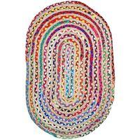 Maison & Déco Tapis Zen Et Ethnique Tapis Ovale 55 x 85 cm Multicolore