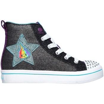 Chaussures Fille Baskets montantes Skechers Twilites Patch Cuties Noir