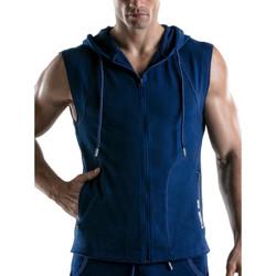 Vêtements Homme Vestes de survêtement Code 22 Veste sans manches à capuche Force Code22 Bleu Marine