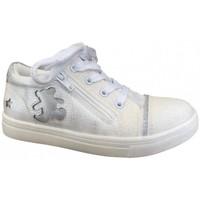 Chaussures Fille Baskets montantes LuluCastagnette TENNIS FILLE ZIPPEES Blanc
