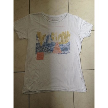 Vêtements Garçon T-shirts manches courtes Napapijri Tee shirt napapjiri Blanc