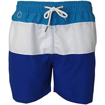 Vêtements Homme Maillots / Shorts de bain Pierre Cardin Mariano Bleu Turquoise, Blanc, Bleu Roi