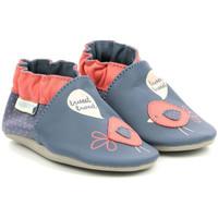 Chaussures Fille Chaussons bébés Robeez Cute Chicks BLEU FONCE