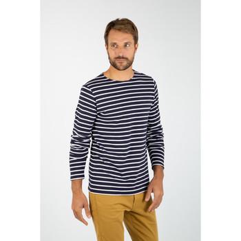 Vêtements Homme T-shirts manches longues Armor Lux Plozévet Navire/Blanc