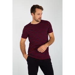 Vêtements Homme T-shirts manches courtes Armor Lux HOEDIC - Marinière - T-shirt NAVIRE/BRAISE