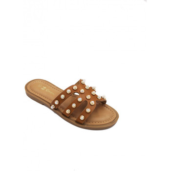 Chaussures Fille Mules Pretty Lady Mules à strasse Camel