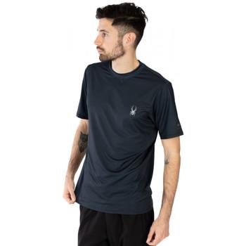 Vêtements Homme T-shirts manches courtes Spyder T-shirt noir pour homme Noir