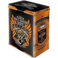 Maison & Déco Paniers, boites et corbeilles Harley Davidson Boite métallique pour la farine Noir