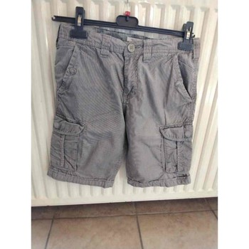 Vêtements Garçon Shorts / Bermudas Teddy Smith Bermuda gris/kaki rayé noir Autres