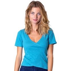 Vêtements Femme Tops / Blouses Coton Du Monde Amandine Turquoise